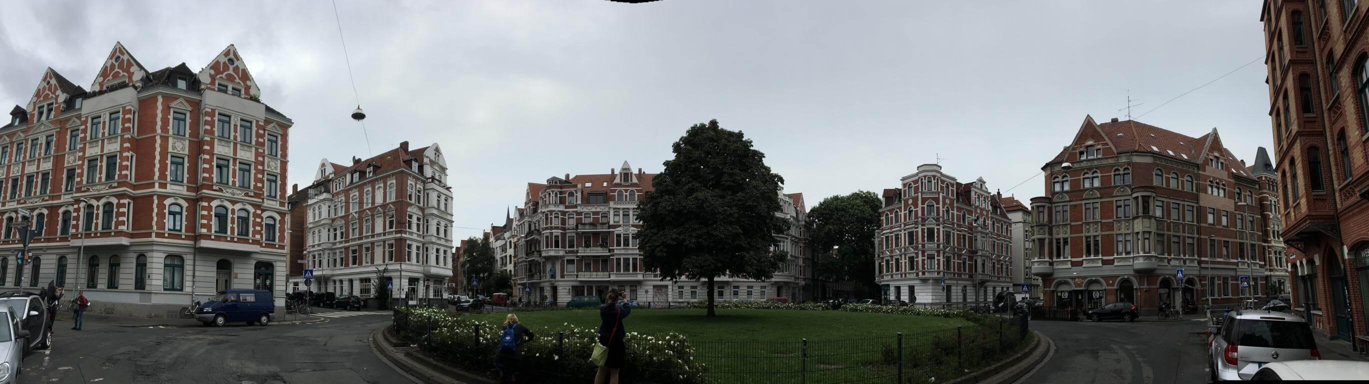 Der Lichtenbergplatz in Hannover mit den tollen alten Häusern