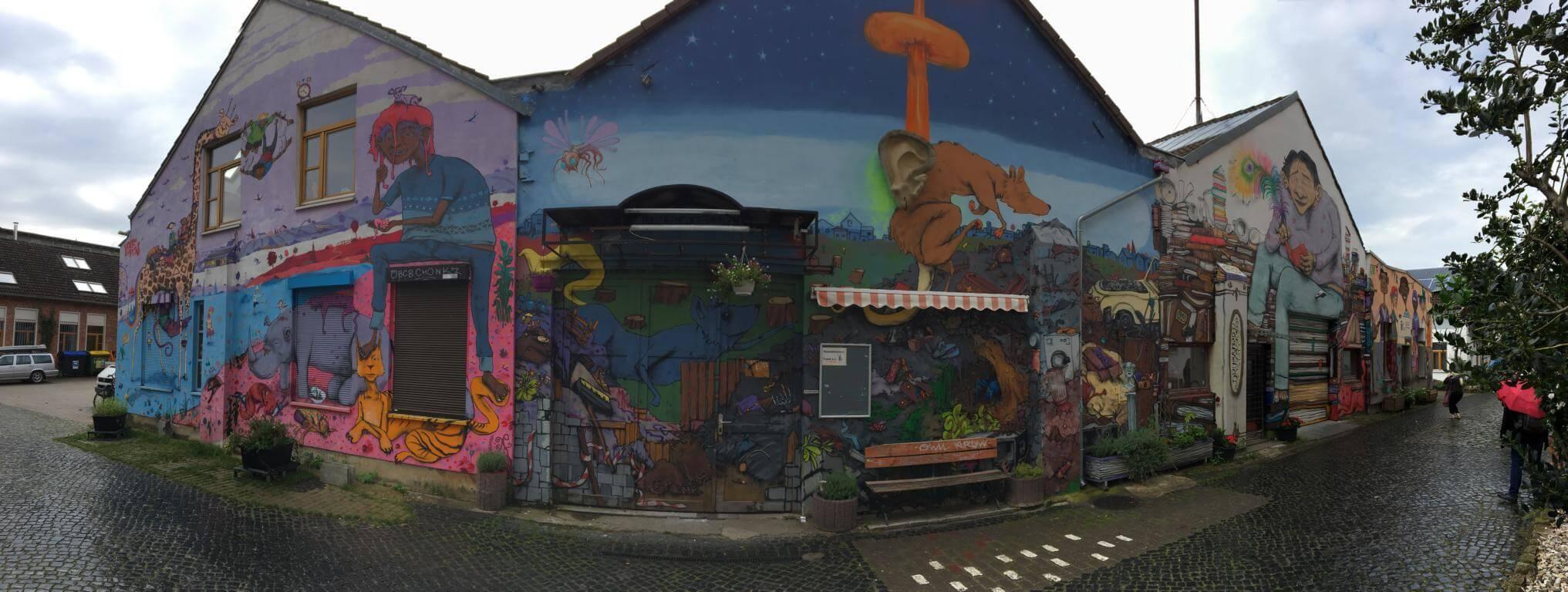 Hannover Linden Streetart Bettfedernfabrik