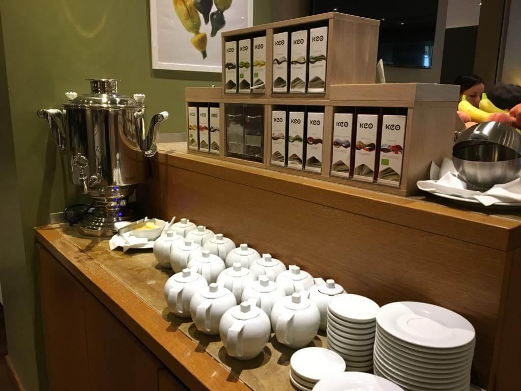Würde ich Tee trinken hätte ich eine riesige Auswahl morgens zum Frühstück im Crowne Plaza Hannover Schweizerhof