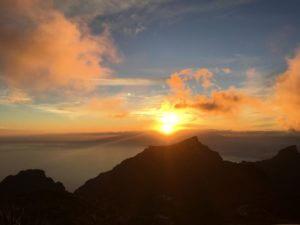 Traumhafter Sonnenuntergang vom Mirador de Cherfe auf Teneriffa