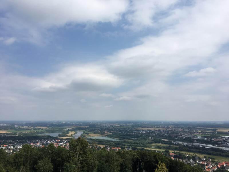Ausblick vom Wilhelmsdenkmal - mit dem Pedelec auf dem Weser-Radweg