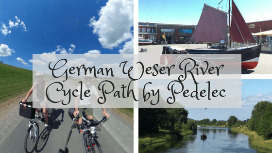 German Weser river cycle path