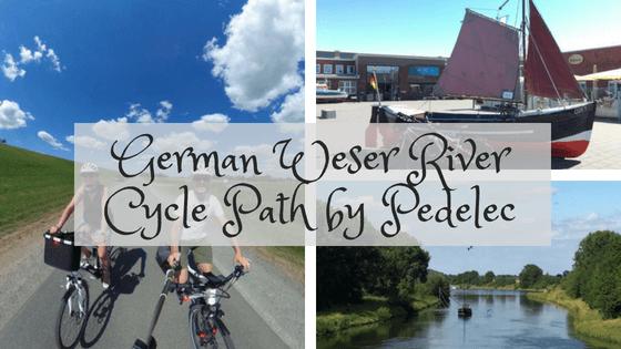 German Weser river cycle path
