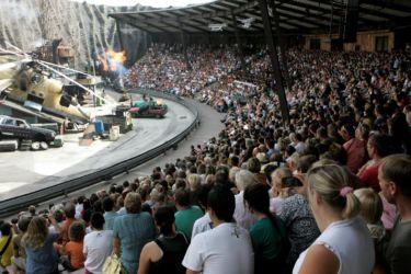Stuntshow im Vulkan Filmpark Babelsberg Interaktives-XD-Erlebniskino-im-Filmpark-Babelsberg Foto: Filmpark Babelsberg/ Mathwig